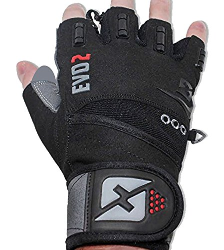skott 2019 Evo 2 Weightlifting Gloves with Integrated Wrist Wrap Support-Double Stitching for Extra Durability-Get Ripped with The Best Body Building Fitness and Exercise Accessories (Medium)