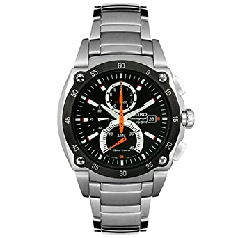 Seiko Mens SPC001 Sportura Retrograde Chronograph Watch