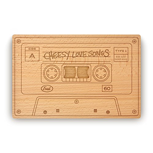 Fred CHEESY LOVE SONGS Cheese Board, - Board Beechwood Cheese
