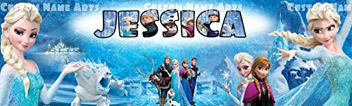 Disney Frozen Elsa Personalized Custom Name Painting 8.5x30 Poster Banner (Banner Frozen)