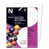 Wholesale CASE of 10 - Wausau Bright White Card Stock Paper-Card Stock Paper, 65 lb., 8-1/2''x11'', 250/PK, Bright White