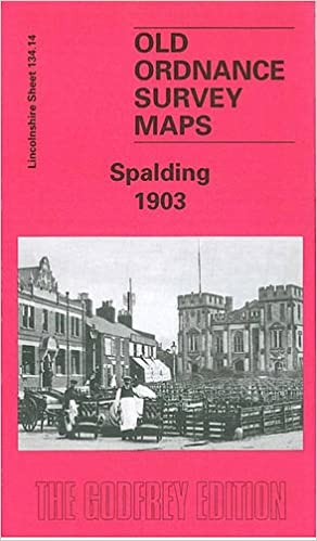 OLD ORDNANCE SURVEY MAP SPALDING 1903 STATION STREET MARSH ROAD LONDON ROAD