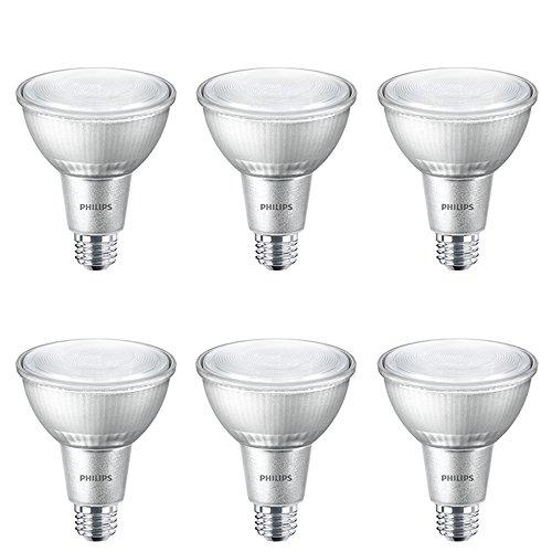 Philips LED Classic Glass Dimmable PAR30L 40-Degree Spot Light Bulb: 850-Lumen, 3000-Kelvin, 12-Watt (75-Watt Equivalent), E26 Base, Bright White, - Glass Spot