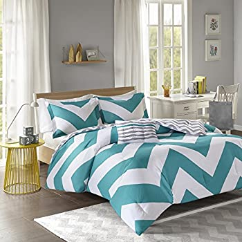 Charmant Mi Zone Libra Comforter Set Full/Queen Bedding Sets   Teal, Chevron U2013