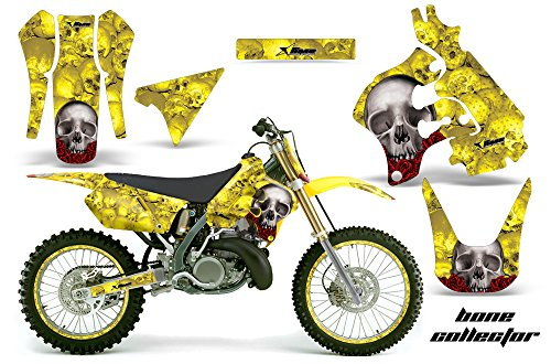 1997 Collectors Plate (AMR Racing Graphics Kit for MX Suzuki RM250 1996-1998 WITH NUMBER PLATES BONE COLLECTOR YELLOW)