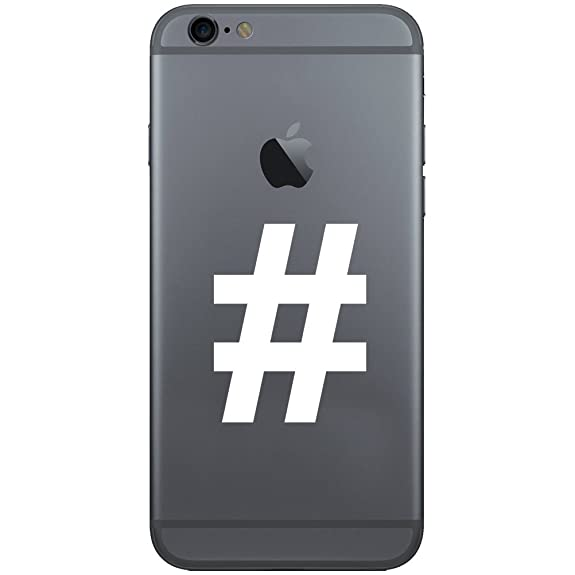 Amazon Pound Sign Hashtag Symbol Keyboard Character Vinyl Cell