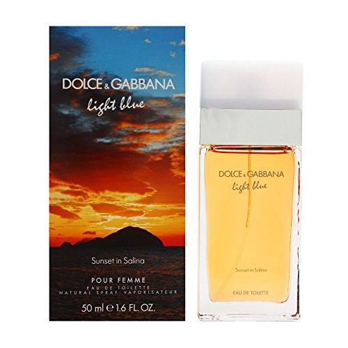 Dolcë & Gabbanä Líght Bluë Sunsët In Sälina Perfüme For Women 1.6 oz Eau De Toilette Spray + Body Lotion