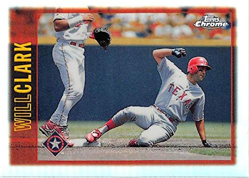 Will Clark baseball card 1997 Topps Chrome #133 Refractor (Texas Rangers)