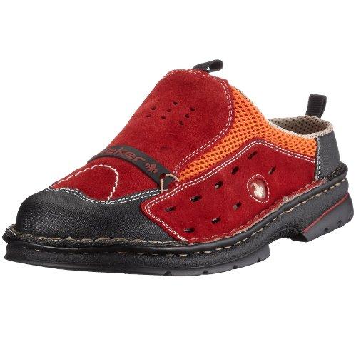 Rieker Kinder  K5596-33 Unisex - Kinder Clogs & Pantoletten Rot/Mohn/Mandarine