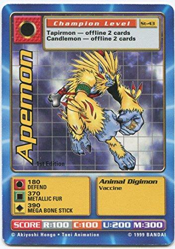 - Digimon Card - Apemon St-43 - 1st Edition