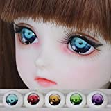 maledery 1 Pair BJD Safety Eyes Acrylic Toy Eyes for Dolls 1/3 1/4 1/6 14mm 16mm 18mm for Doll Accessories Toys(Blue,14 mm)
