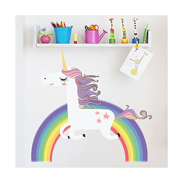 azutura Unicorn On Rainbow Wall Decal Sticker Available in 8 Sizes Digital 4