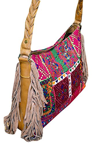 Shoulder Sling 17 Bag Womens New Hnadbags Embroidery Banjara Vintage PatchWork Indian Crossbody Zari Style XqTSgw