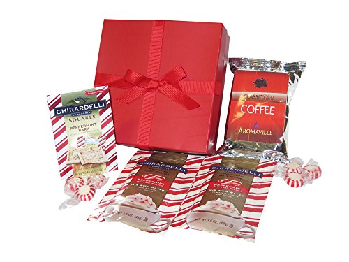 Holiday Ghirardelli Peppermint Hot Cocoa Ghirardelli Peppermint Bark and Coffee Gift Set for Christmas