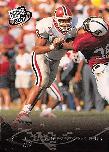 2001 Press Pass Football - Richard Seymour football card (University Georgia Bulldogs) 2001 Press Pass #39 Rookie