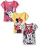 Disney Little Girls' 3 Pack Minnie Mouse T-Shirts, White, 5