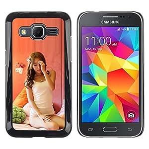 // PHONE CASE GIFT // Duro Estuche protector PC Cáscara Plástico Carcasa Funda Hard Protective Case for Samsung Galaxy Core Prime / Janpanese sexy beauty Asain /
