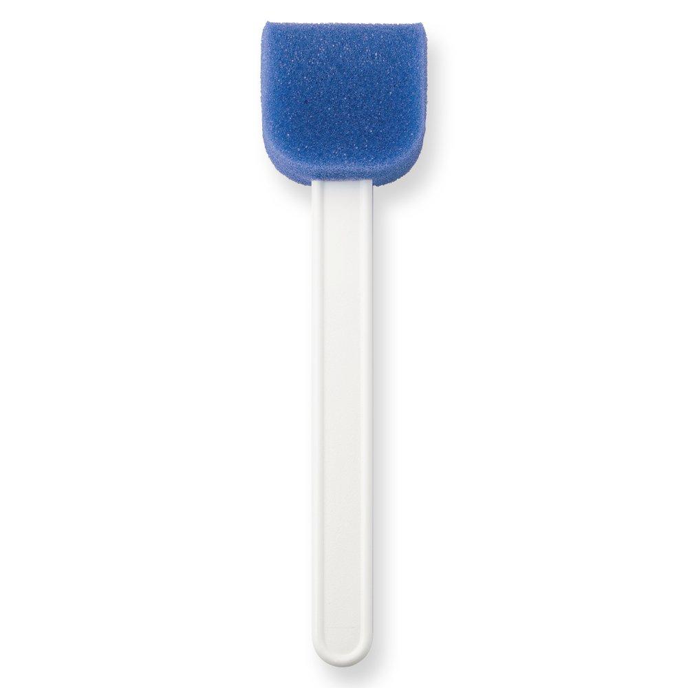 Qosina 13139 Blue Polyether Rounded Bottom Sponge Stick, 6'' Length (Pack of 25)