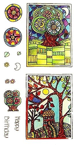 (Hampton Art Color Me Clear Stamps ~ Happy Birthday)
