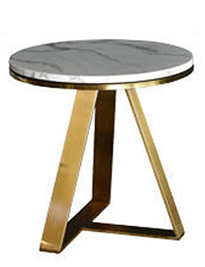 587d39b68c Amazon.com: Marble Coffee Table/Modern Living Room Round Design/Creative  Furniture Side/Stainless Steel Coffee Table (Golden): Kitchen & Dining