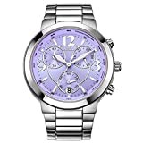 Best Steel Watches With Purple Bands - CENXINO Women's Elegant Luxury Chronograph Wrist Watches With Review