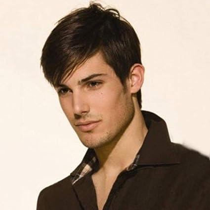 peluca personalidad de la moda pelucas frescas de los hombres pelucas de cabello natural, 001