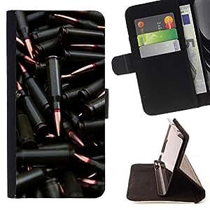 For Samsung Galaxy S6 - Black Bullet /Funda de piel cubierta de la carpeta Foilo con cierre magn???¡¯????tico/ - Super Marley Shop -