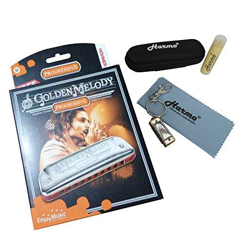 Hohner Golden Melody C Harmonica - Mega Bundle zip for sale  Delivered anywhere in USA