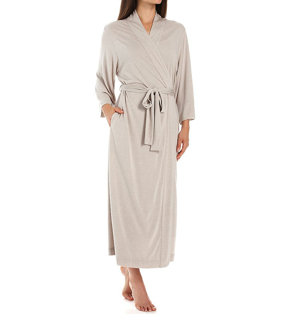 Natori Women's Shangri La Robe, Heathered Cashmere, Small