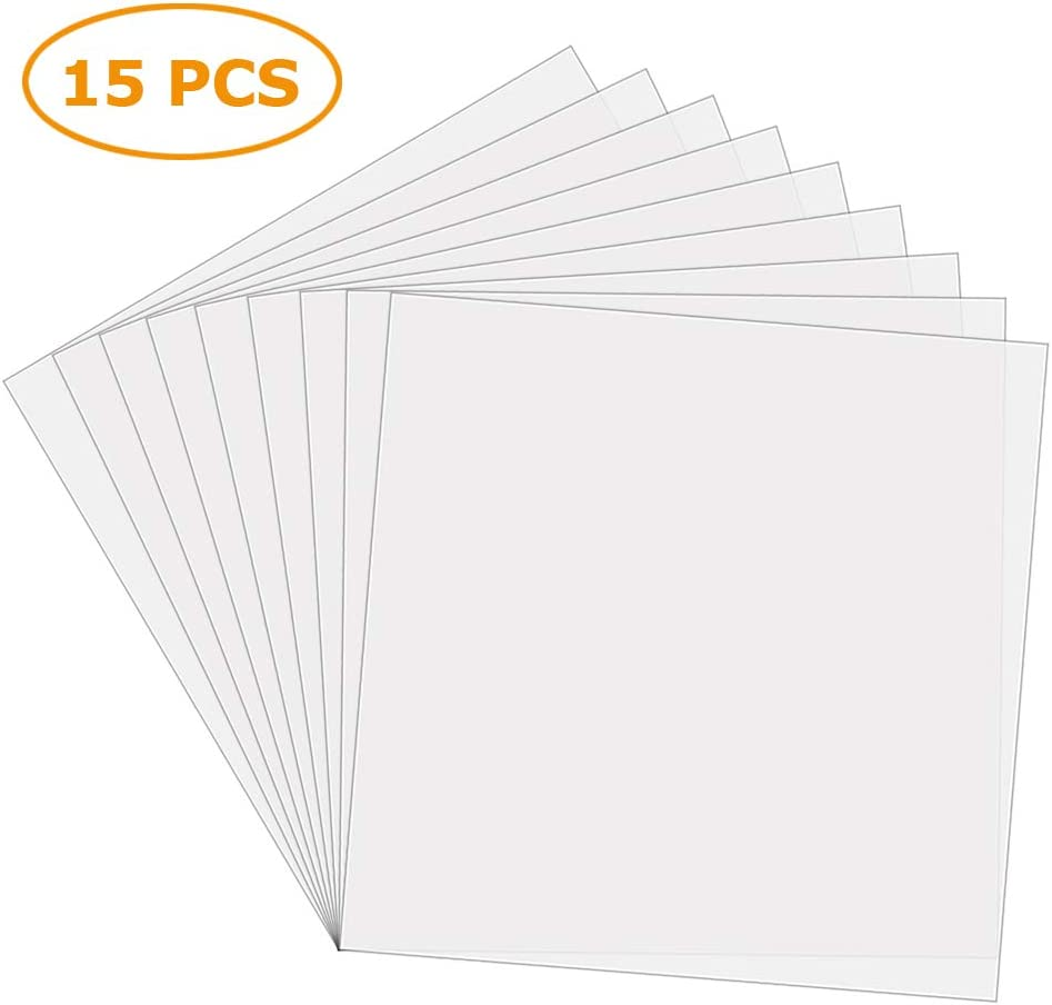 """Sopplea 15 PCS 6 Mil 12"""" x 12"""" Blank Mylar Stencil Sheets-Make Your Own Stencil,Ideal Use Compatible Cricut & Silhouette Machines"""