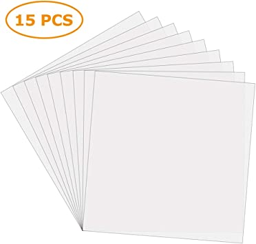 12 x 24 Blank Stencils Make Your Own Stencil Compatible for Cricut Vinyl Cutting Machine 14 Pack 6 Mil CLEAR Mylar Stencil Sheets Reusable Template Material