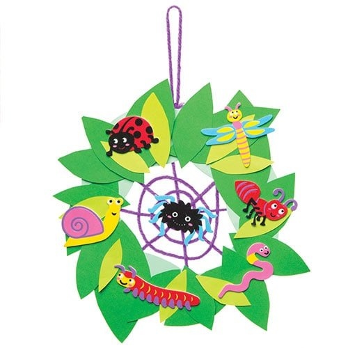 Baker Ross Insects and Bugs Foam Stickers for Children to Design Pack of 120 Creative Picture Craft Set for Kids Make and Display