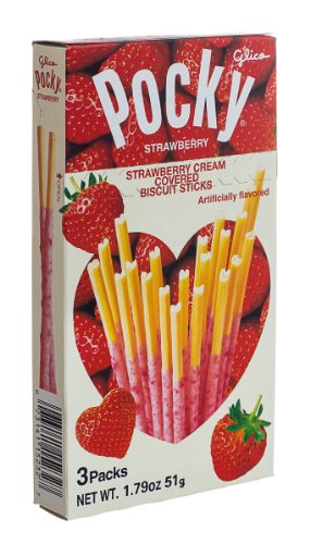 Glico Pocky Tsubu Tsubu Strawberry, 1.79-Ounce (Pack of 10)