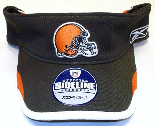 NFL Cleveland Browns SIdeline Player Velcro Strap Reebok Visor - Osfa - W197Z (Reebok Player Sideline Nfl)