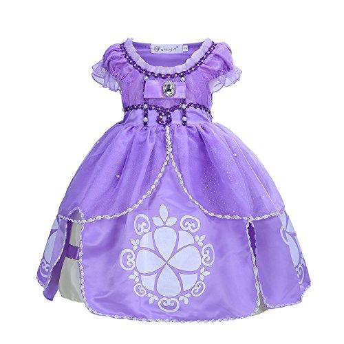 Princess Sofia Costumes (Pettigirl Girls Costume Dress Little Princess Dress Halloween Cosplay 4Years)