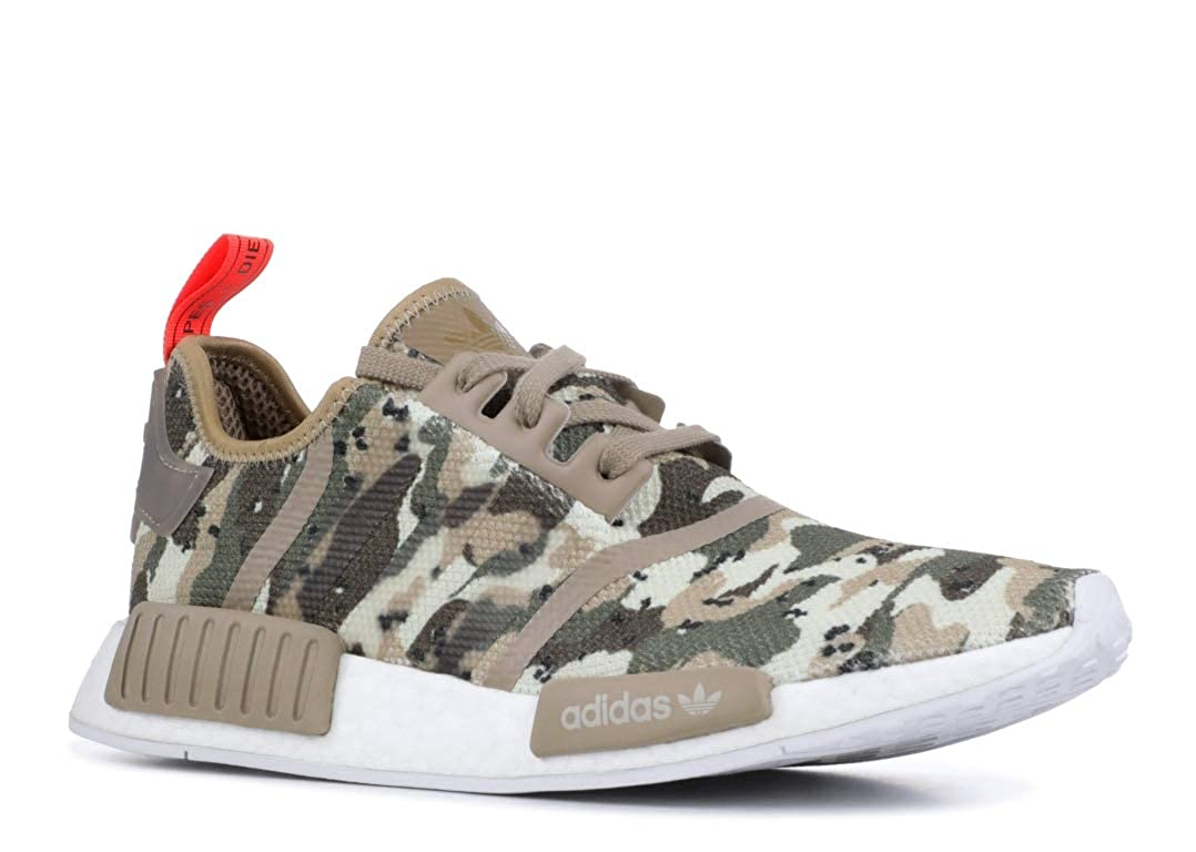 Clear brown, clear brown, solar red adidas Originals NMD_R1 shoes Men's Casual