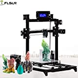 FLSUN Prusa i3 Desktop 3d Printer RepRap With Printing Size 200*200*220mm High Accuracy and stability Heated Bed Auto leveling LCD Display ,Two Roll PLA filament 1.75 mm ,2 Dual Z motors Type Aluminium Structure DIY Kit