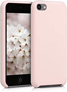 kwmobile TPU Silicone Case Compatible with Apple iPod Touch 6G / 7G (6th and 7th Generation) - Case Soft Flexible Protective Cover - Dusty Pink