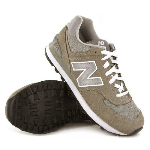 New Balance M574 D, Baskets mode homme gris/blanc