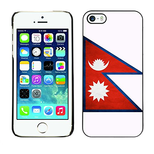 Omega Case PC Polycarbonate Cas Coque Drapeau - Apple iPhone 5 / 5S ( Nepal Grunge Flag )