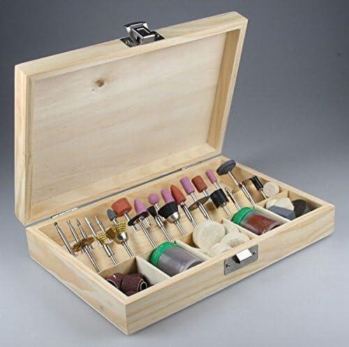 Fresa-multimedia-pulido-Set en caja de madera, 100 tlg para Mini taladro: Amazon.es: Electrónica