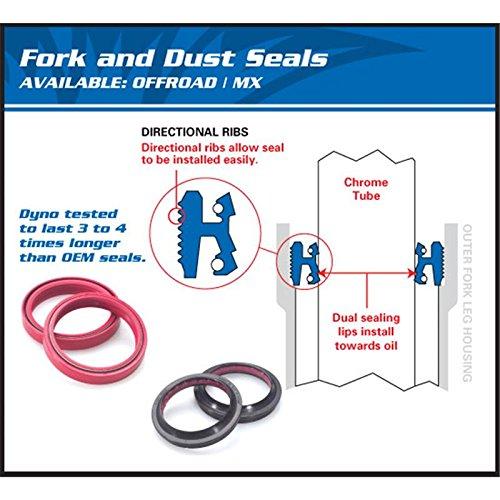 de fog/ón Kit de ambos lados/ Showa 47/mm Tenedor Resistente al Juego de polvo tapa /All Balls 56/ /142