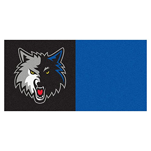FANMATS NBA Minnesota Timberwolves Nylon Face Team Carpet Tiles by Fanmats