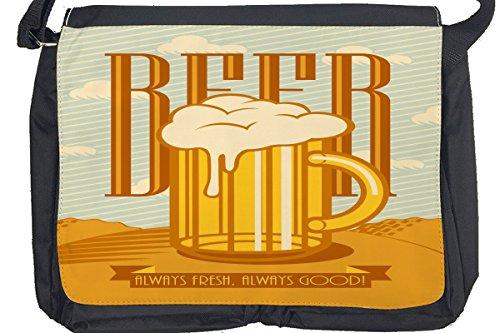 Borsa Tracolla Birra Retro Birra Stampato Divertimento Camera