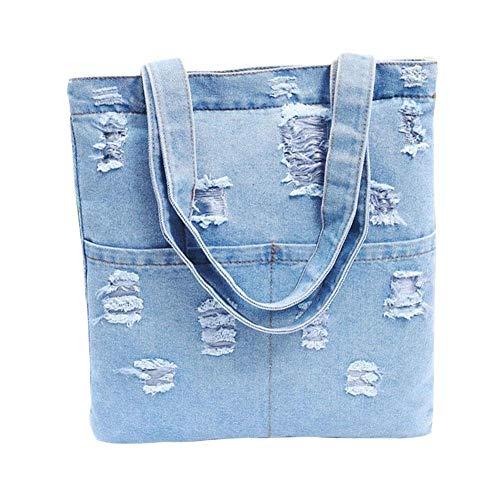 Jeans Bag Bag 2 Denim Retro Tote Shoulder iShine Style Handbag Women's Casual AZ0q7w7x