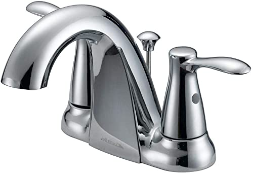 Glacier Bay F51AC074CP Gable 4 Centerset Bathroom Sink Faucet, Polished Chrome