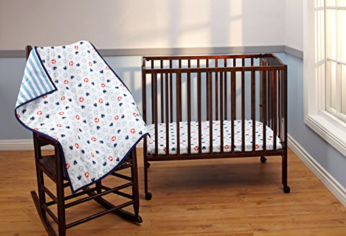 Disney Mickey Mouse 3 Piece Porta Crib/Mini Nursery Bedding Set - Comforter, 2 Sheets