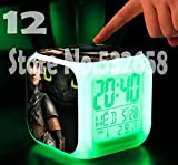 How to Train Your Dragon Alarm Clock Digital Action Toy Figures Thermometer Night Colorful Glowing Toys (Style 12)
