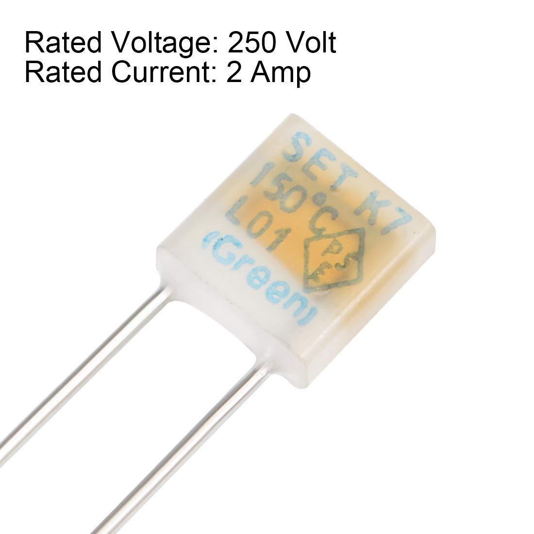 1A 130C 20pcs Fusible t/érmico Sourcingmap 250 V, control de temperatura