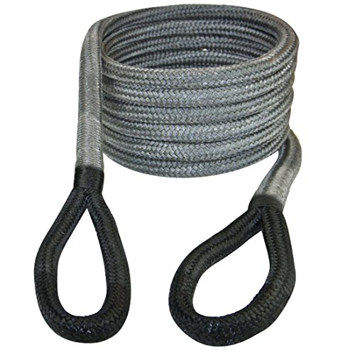 Vulcan 3 4  X 20  Off Road Double Braided Recovery Rope   19 000 Lbs  Breaking Strength   Grey  Black